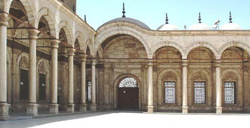 A general view of the arcades within the open courtyard