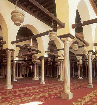 The Prayer Hall of Al-Azhar Mosque