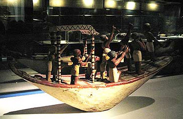 A model of a funerary boat