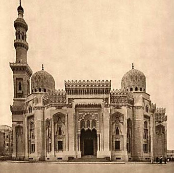 A historical view of the mosque as it appeared just after its last renovation in the early 20th century