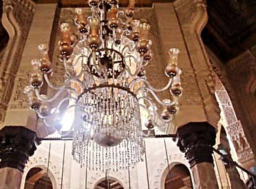 A view of one of the mosque's lamps