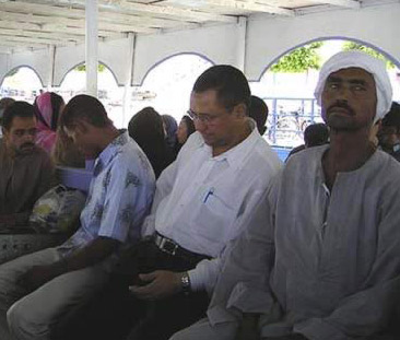 Passengers aboard the Ferry Boat