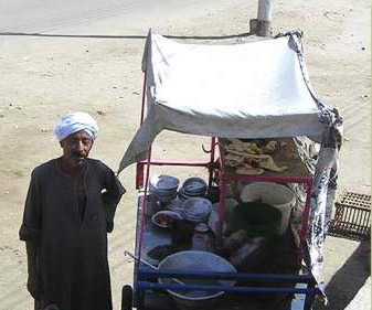 The breakfast man on the West Bank at Luxor