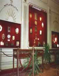 A hall containing gifts granted to President Mubarak.