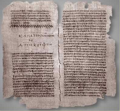 The Gospel of Thomas from the Nag Hammadi cache of documents
