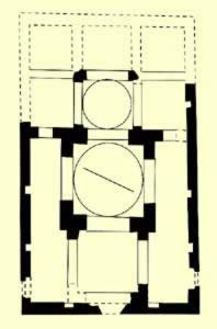 Floor Plan of the triple sanctuary church at Saint Victor Monastery