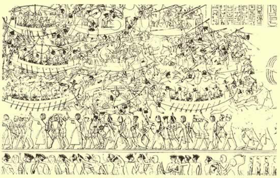 The Egyptian Battle with the Sea People