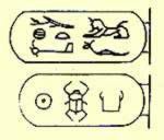 The name cartouche of Nectanebo I