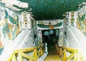 The tomb of Nefertari in the Valley of the Queens