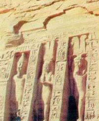 Outside of the Tomb of Nefertari - Goddesses Nekhbet and Wadjet