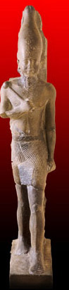 An 80 cm striding     statue of Neferefre from his mortuary complex at Abusir