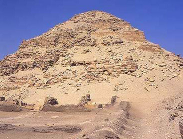 Another view of the Pyramid of Neferirkare at Abusir in Egypt