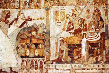 Neferrenpet offers libations and incense to Amenhotep I and his mother