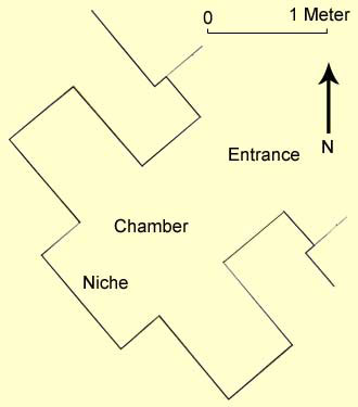 A floor plan of the tomb of Nefersekheru