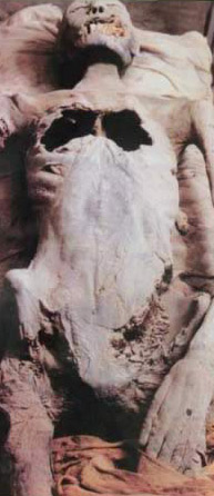 Another view of the controversial mummy