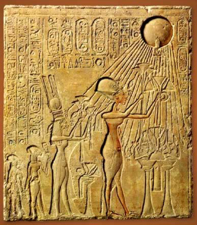 Panel with a Scene of the Adoration of Aten