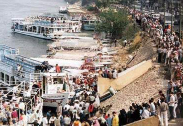 Egyptians along the Nile getting ready for the holiday