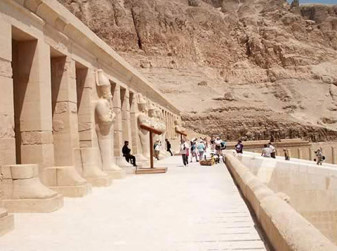 Newly Opened Court at the Temple of Hatshepsut