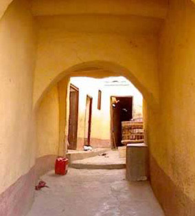 One of the small alleys of the village designed by the locals.