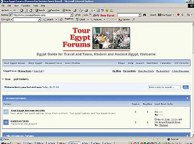 Tour Egypt's New Forum System