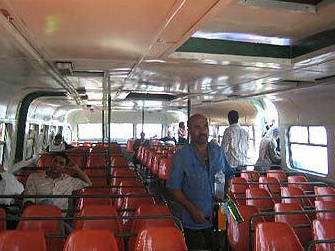 Another view inside the Nile Bus