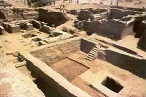 Mastaba tombs and houses uncovered at Tell el-Rub'a in 1977
