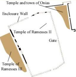 Ground Plan of the Temple of Ramesses II and the Town and Temple of Osiris at Tell el-Yahudiya (Leontopolis)