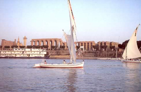 The Nile In front of Luxor Temple