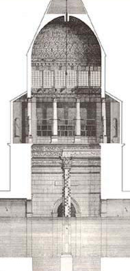 A cross section of the Nilometer from Norden's Views;