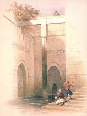 A David Roberts Painting of the Interior of the Rawda (Roda) Nilometer