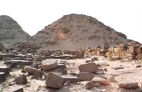 Another View of the Pyramid of Niuserre at Abusir in Egypt