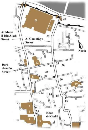 Map two of Islamic Cairo, Egypt