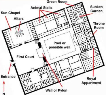 Plan of the North Palace
