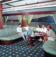 A lounge on the Movenpick operated Radimas Nile Cruise Boat