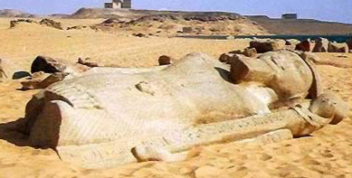 Broken Colossal of Ramesses II at Wadi as-Subua