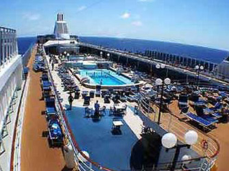 Deck of the MSC Lirica