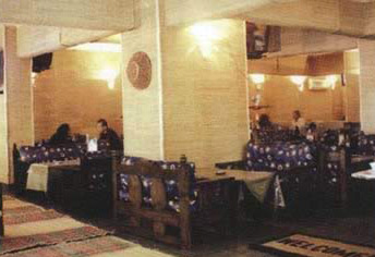 Inside the Al Omda Restaurant in Cairo, Egypt