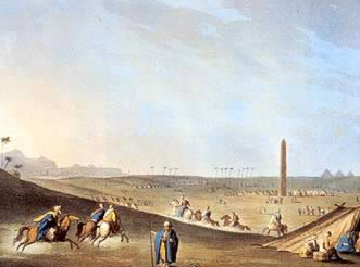 The Ancient Obelisk at Hararrea-Heliopolis by Luigi Mayer