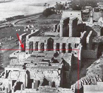 The area of the Chamber of the Divine King at Luxor Temple