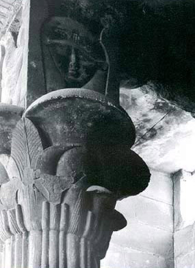 One of the Hathor headed capitals within the Opet Temple