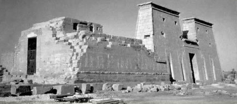 An older photo of the Temple of Opet at Karnak