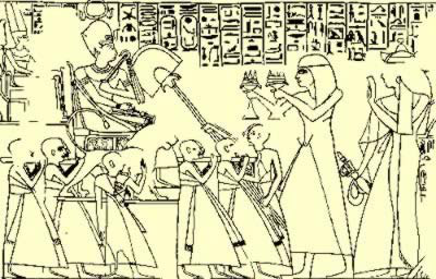An Oracle Scene from Ancient Egypt