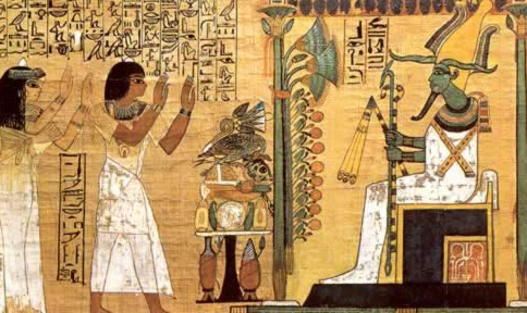 Osiris Being Worshipped from the Kha Funerary Papyrus