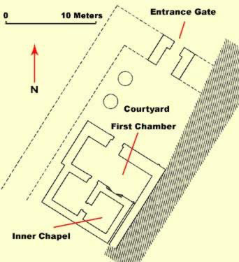 Ground Plan of the Temple of Osiris Hek-Djet at Karnak