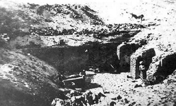 An early picture of the tomb of Djer and later, Osiris