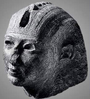 Granite head of Osorkon II from Tanis