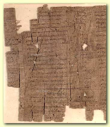 A papyrus from the  large dump near the city