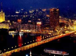 Another view of Cairo at night