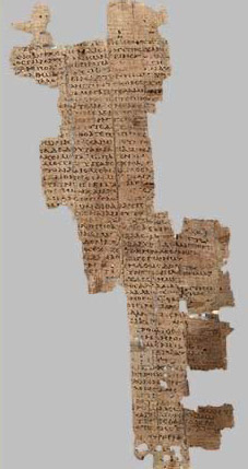 Homer's Iliad on papyrus