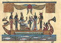 Illustration of Nefertari on Boat